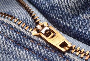 Remplacement fermeture éclair jean