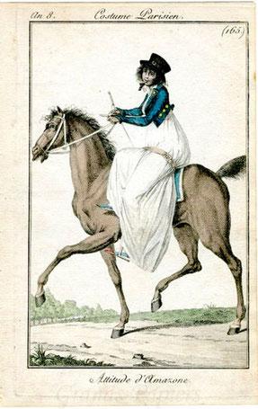 RID Reiten im Damensattel, Kleidung im Empire