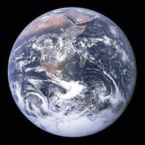 Blick von der Erde von Apollo 17 [NASA]