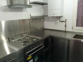 cocina de acero inoxidable