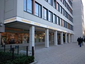 Fertige Fassade mit Lichtband - linker Teil