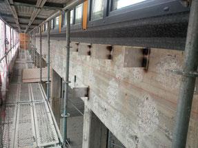 Bild der alten Fassade - Montageuntergrund
