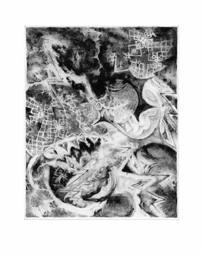 Matthias-Wyss-Kupferstich-Kaltnadel-Copper-Engraving-Drypoint-Cycle-2008–2009-Printing-Plate-20X25-Cm-N°16