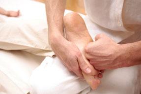 Shiatsu Behandlung Fuß Druckmassage Akupressur
