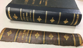 Restoration leather book spine with similar releases