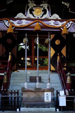 今朝の諏訪神社の本殿だよ(いよいよ10時から試合開始だね)