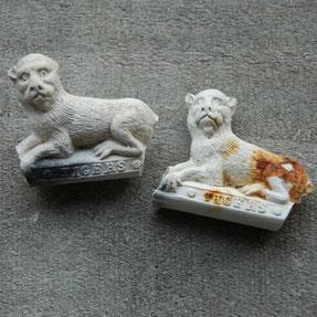 2 leeuwtjes met tekst BOSTON
