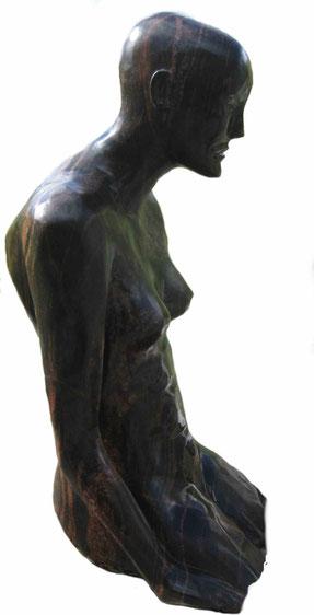 Skulptur Granit Sitzende
