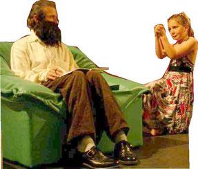 Sketch Théâtre comique Adulte Homme et Enfant fille Papydoux