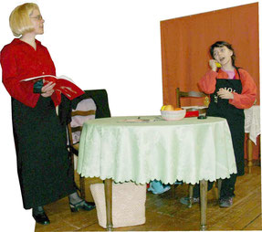 ketch théâtre comique Adulte Femme et Enfant fille Les devoirs m'appellent