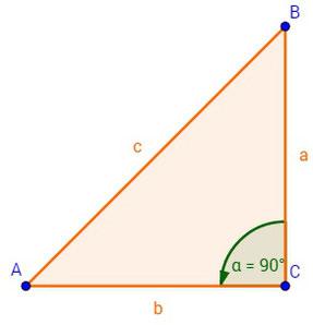 Ein rechtwinkliges Dreieck