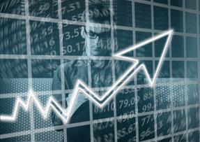 Investmentstrategien Gewinn Verluste Diagramm Auf und Ab Portfolio Gewinnn Verlust