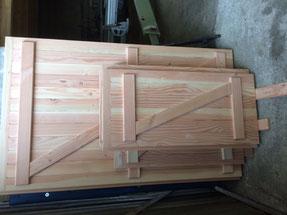 rambarde en bois douglas