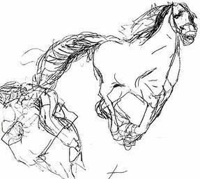 ナディアが描いた馬の絵