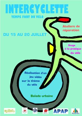 """Proposition d'affiche pour le projet """"intercyclette"""""""