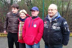 v.l. Marcel, Geneviève, Uwe und Eberhard
