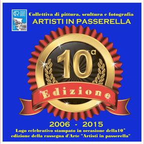 """Logo celebrativo della rassegna artistica """" Artisti in passerella 2015 """""""