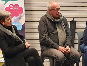 Muriel Passaro et Gérard Lavaud société Solusens Mercredi d'Agisens sur le Sens au travail 22 janvier 2020