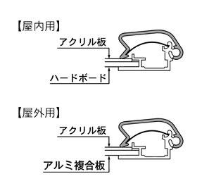 マリヤ画材/取扱商品/ポスターグリップ/屋内・屋外用/断面
