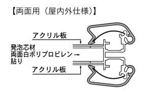 マリヤ画材/取扱商品/ポスターグリップ/両面用/断面