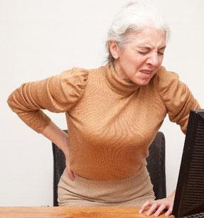 奈良県御所市の骨粗鬆症で腰が痛い女性