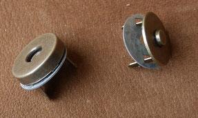 Top magnétique vieux laiton diamètre 18mm