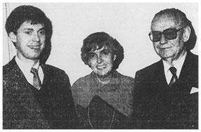 Carl-Rüdiger Westensee mit seinen Eltern: Adolf B. Westensee jun. mit Ehefrau Ingeborg, geb. Thoms