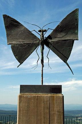 """Flambé"" sculpture de B.Buffet"
