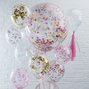 DECO ANNIVERSAIRE ADULTE BALLONS CONFETTIS - ADULT PARTY DECORATION  CONFETTIS BALLOONS