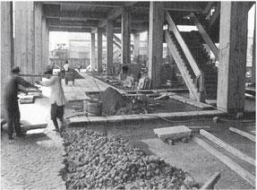 ピロティ 石工事