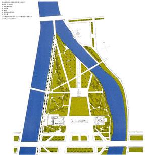 「広島平和記念会館総合計画」1950年