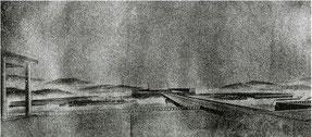 「大東亜建設忠霊神域計画」 国民広場から本殿を望む 1942年