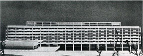 「国立国会図書館コンペ案」 1954年