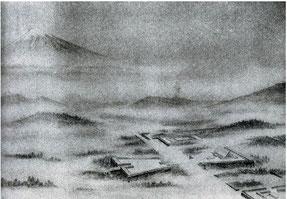 「大東亜建設忠霊神域計画」 鳥瞰図 1942年