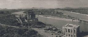 原爆投下直後の広島市街