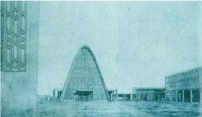 「広島平和記念カトリック聖堂」 外観パース 1948年