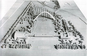 「広島ピースセンターコンペ」 模型写真 1949年