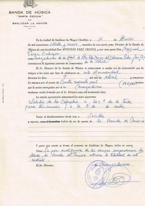 Contrato con la Hermandad de San Gonzalo año 79