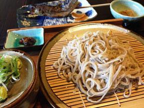 十割蕎麦と岩魚の炙り焼きセット