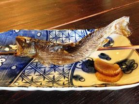 骨も苦に無く食べられる岩魚塩焼き炙り焼き手打ち十割蕎麦やまだや