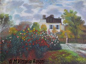 il giardino di Monet ad Argenteuil, olio su tela cm 60x80 anno 2014