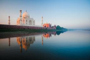 Le Taj Mahal, la première merveille du monde, que l'on peut voir lors d'un circuit au Rajasthan.