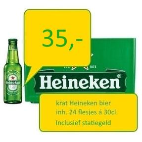krat bier heineken 24 flesjes bezorgen deurningen hengelo oldenzaal borne enschede