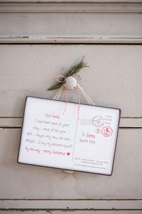 Ein Wunschzettel für Weihnachten an Santa by Ib Laursen - so schön kann die Vorfreude sein - Sternschnuppe home & garden, Eichelhardt