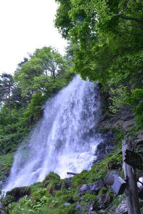 夏の乙女の滝