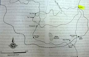 Bild: Kalaw area trekking routes