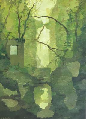 """Martin Guido Becker, """"Schlucht"""", 2012, Öl/Lwd, 70/50 cm"""