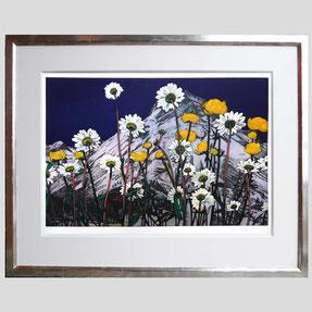 Kneffel - Blumen vor Berg