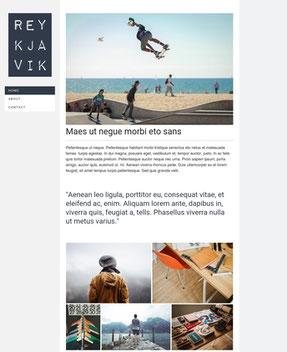 Jimdo Design-Vorlage Reykjavik