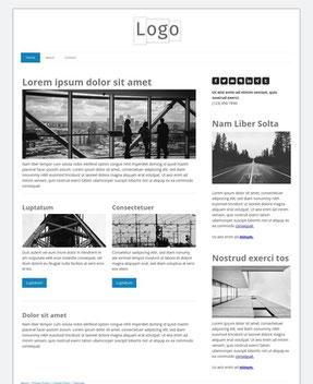 Jimdo Design-Vorlage Helsinki